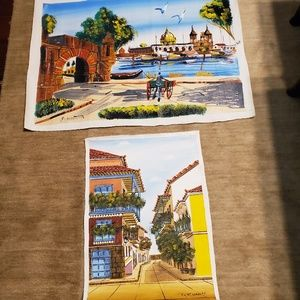 2 European prints.  The larger print has a number